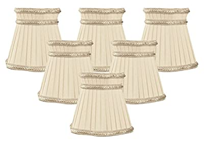 Royal Designs Decorative Trim Top Gallery Empire Beige Chandelier Lamp Shade