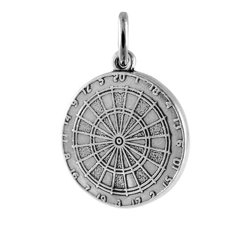 TheCharmWorks Sterling Silver Dartboard Charm