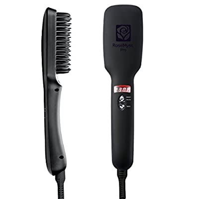 Rosemyst Ionic Hair Straightening Brush with Blade Heater