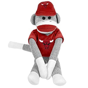 NBA Chicago Bulls Uniform Sock Monkey by Forever Collectibles