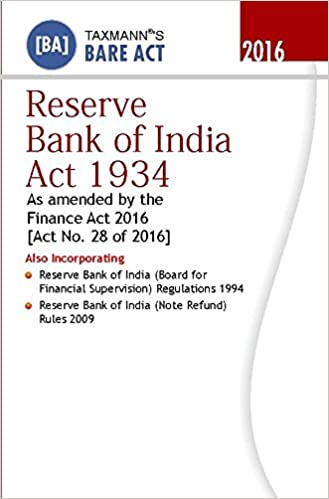 Reserve Bank of India Act 1934 (Bare Act)