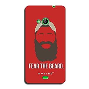 Mozine Fear The Beard Red printed mobile back cover for Nokia lumia 535