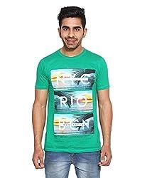Le Bon Ton Men's Cotton Blend T-Shirt (AMZ_AMP_091_Green_Large)