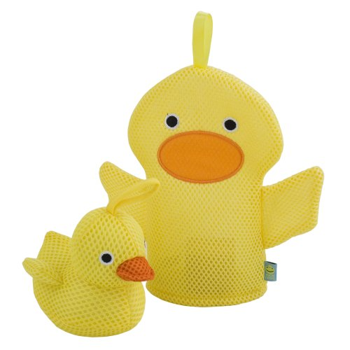Rich Frog Wacky Wash Mitt and Bath Sponge Combo - Duck