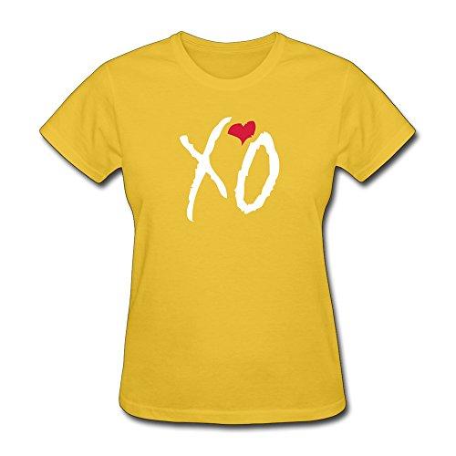 Zhitian Women'S Xo Heart T-Shirt