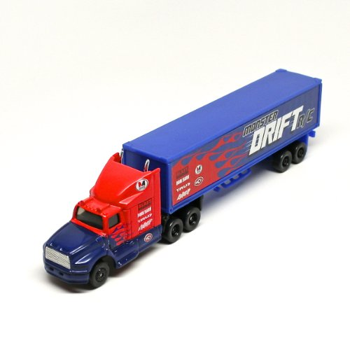 Monster Drift R/C * On the Road Series * Maisto Highway Haulers 2010 Fresh Metal Die-Cast Tractor Trailer / Semi Truck Vehicle Collection - 1