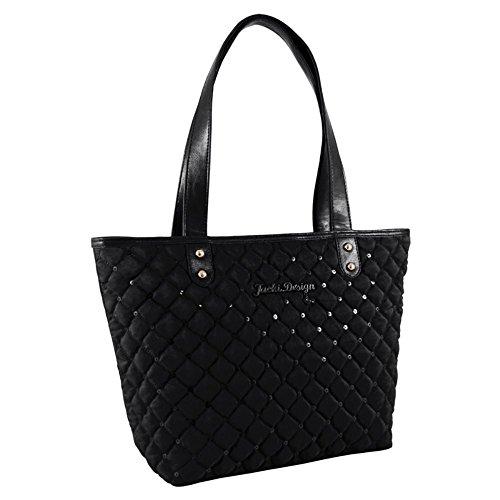 jacki-design-abc15013bk-bella-donna-tote-bag-black
