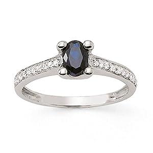 Bague Saphir - Or 750 Millièmes (18 Carats): 2.60 Gr - Diamant: 0.10 Carat qualité HSI - Saphir: 0.66 Carat