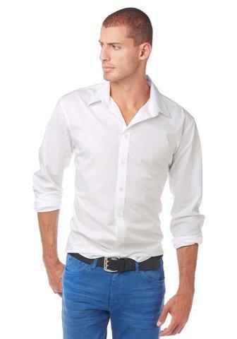 John Devin -  Camicia classiche  - Uomo bianco XX-Large