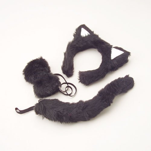 Constructive Playthings - Black Cat Costume Accessory Set, 3 Piece Set