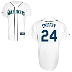 Ken Griffey Seattle Mariners Home Replica Jersey by Majestic by Majestic