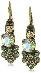 """Sorrelli """"Water Lily"""" Crystal Cluster Dangle Gold-Tone Earrings"""