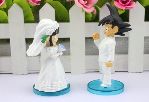 [Goku ChiChi Wedding DBZ action figure] (Bulma Costume)