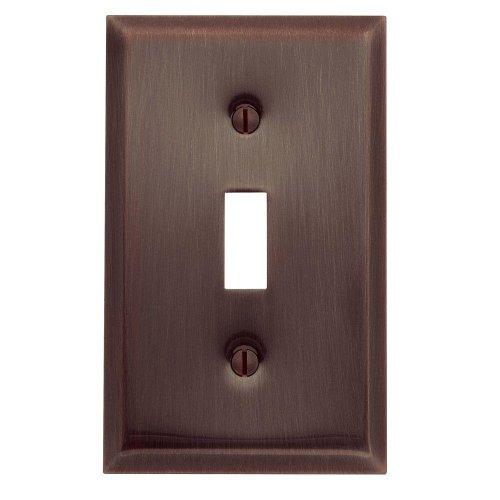 Yow- Baldwin Beveled Edge 1 Toggle Wall Plate - Venetian Bronze Model# 4751.112.Cd