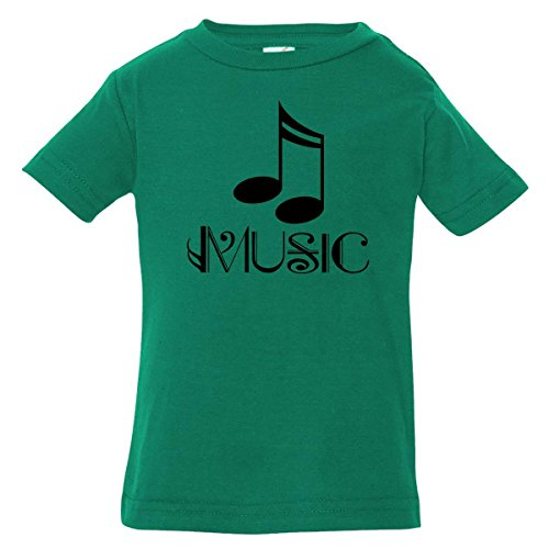 Inktastic Baby Boys' Music Gift Treble Clef Baby T-Shirt 18 Months Kelly Green
