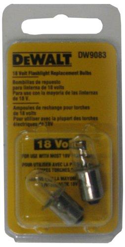 DEWALT DW9083 18-Volt Flashlight Replacement Bulb, 2 Bulbs picture