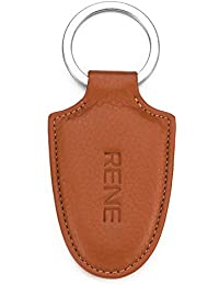 Rene Genuine Leather Tan Color Key Ring