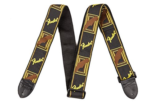 Fender Sangle Monogrammed 5cm Black/Yellow/Brown