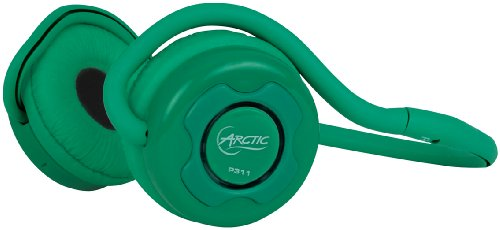 ARCTIC P311 Bluetooth Stereo Headphones, Integrated Microphone, 20-Hr Playback - Green ARCTIC Headphones autotags B005I8056S