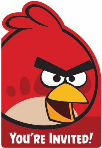 Angry Birds Invitations (8) Invites Birthday Party Supplies