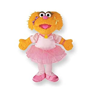 Gund Sesame Street Soft Toy: Ballerina Zoe 30cm approx 075375