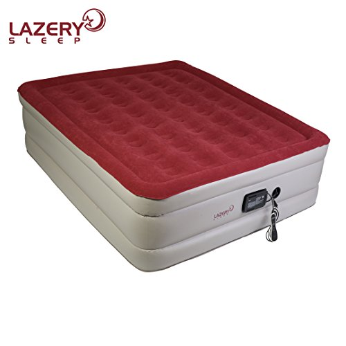Lazery Sleep Air Mattress - Raised Electric Airbed With Built In Pump & Carry Bag - Fast Inflation, LED Remote Control & 7 Firmness Settings -Queen 78