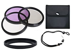 &nbsp Canon Powershot G1X High Grade Multi-Coated, Multi-Threaded, 3 Piece Lens Filter Kit (58mm) Made By Optics + Filter Adapter + Krusell Multidapt Neck Strap