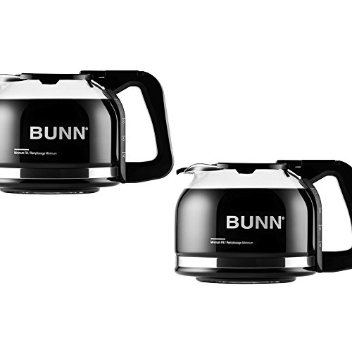 BUNN 10-Cup Black Handle Drip Free Carafe Coffeemaker - BUNN Model - 49715.0000 - Set of 2 Gift Bundle