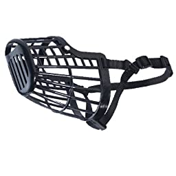 Guardian Gear  Basket Muzzles - Durable and Humane Plastic Muzzles for Dogs - 3X-Small, Black