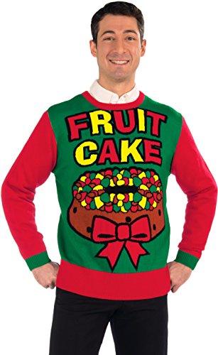 Forum Novelties Men's Fruit Cake Novelty Christmas Sweater, Multi, Medium