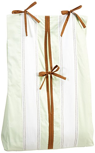 Metro Lime/White/Chocolate Diaper Stacker