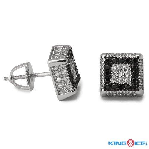 King Ice Liquorice Stud Earrings