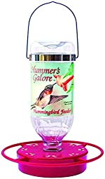 Hummer\'s Galore Jewel Hummingbird Feeder 32oz Capacity Perch And Flower Pedals
