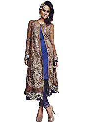 Namrah Collection Women's Georgette Embroidered (4004, Blue)