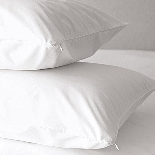 For Sale! Premium Allergy Pillow Protectors Multi Purpose Hypoallergenic 100 percent Cotton 500 Thre...