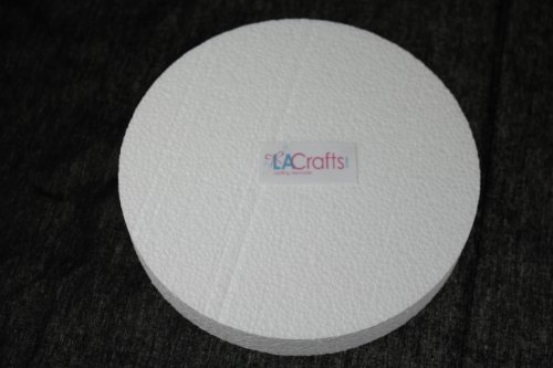 LA Crafts Brand 6x1 Inch Smooth Foam Craft Disc - 12 Pack