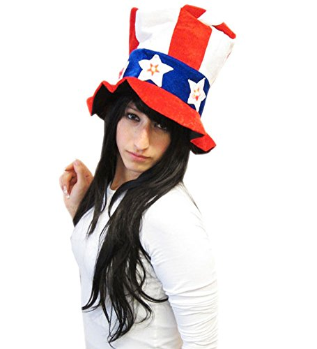 Light Up Uncle Sam Hat - American Style Light Up July 4th Hat Costume Accessory