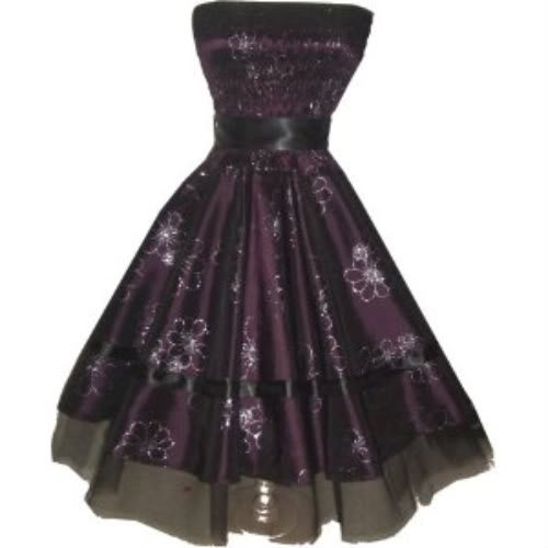 Pretty Kitty Fashion Pretty Purple Floral Satin