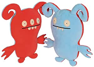 Ugly Doll Classic Plush Doll, Turny Burny, Blue and Pink