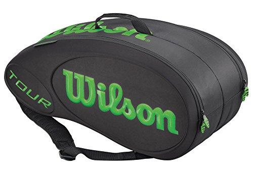 Wilson Sporttasche Tour Molded 9 Pack, Black/Lime, 77 x 35 x 35 cm, 60 Liter, WRZ842509