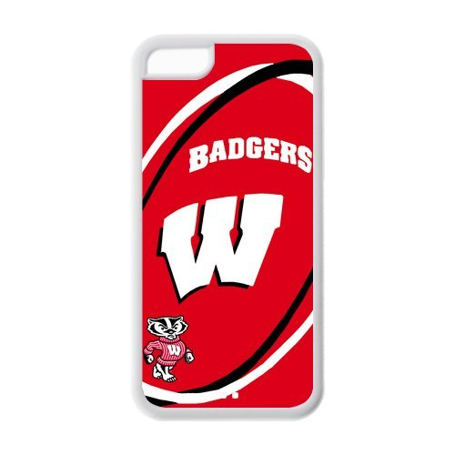 Simple Creative NCAA Wisconsin Badgers Apple Iphone 5C Case Cover TPU snap on cases Covers at Amazon.com