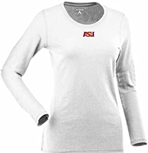 Arizona State Ladies Relax Long Sleeve Tee (White) by Antigua