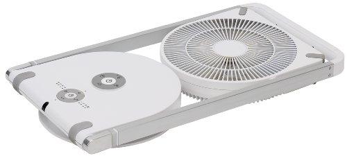 Pieria(ピエリア) DCフォールディングファン ホワイト 折畳み機能 リモコン式 風量4段階切替 アロマケース 減光機能付き FF-250D WH