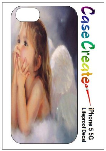 Angel Baby Girl Decorative Sticker Decal For Your Iphone 5 Lifeproof Case front-874333