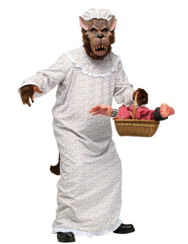 Big Bad Granny Wolf Adult Costume Halloween Costume