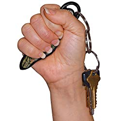 Self Defense Keychain – 16 Styles – U.S. and Air Travel LEGAL – Non Lethal – No risk of personal injury like pepper spray/stun guns – Even effective against attacks from behind – With E-BOOK by MUNIO