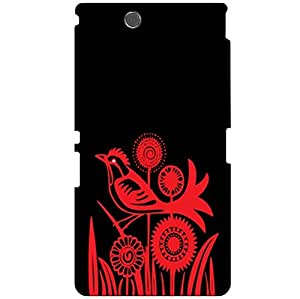 Printland Red & Black Phone Cover For Sony Xperia Z Ultra C6802