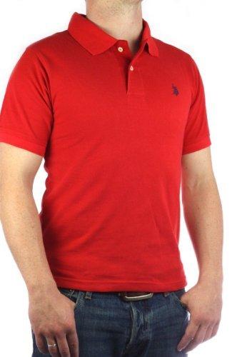 US Polo Assn. Men´s Small Pony polo shirt red-navy mens