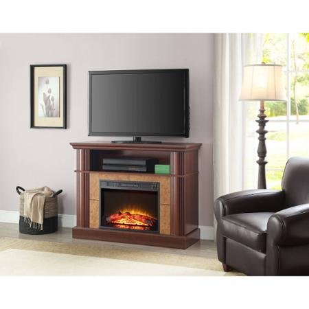 Better Homes and Gardens Cherry Media Fireplace for TVs up to 54