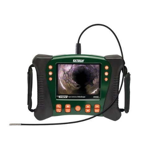 Extech High Definition Videoscope Inspection Camera, 5.5Mm Diameter Camera Head
